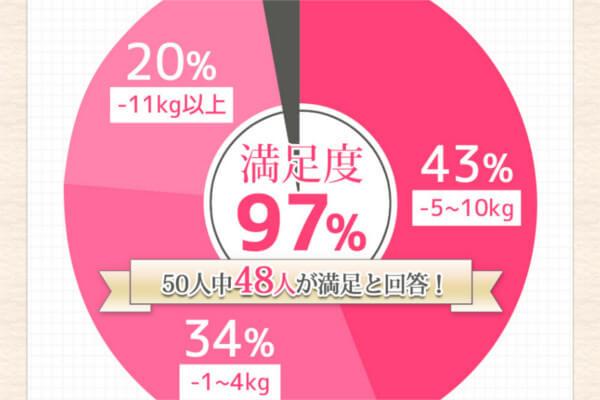 フライビシットを購入した人の満足度は97%