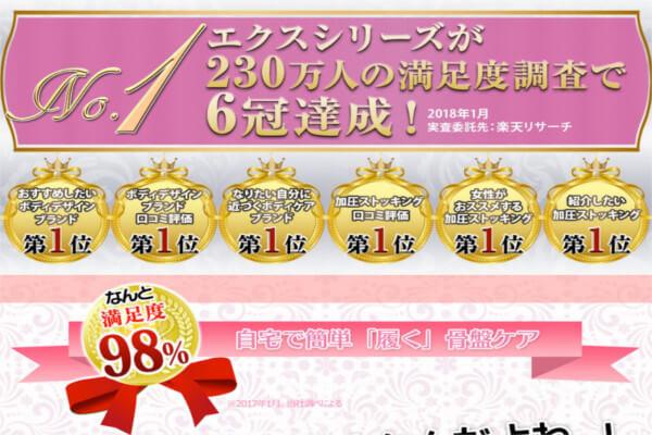 エクスシリーズ満足度6冠達成
