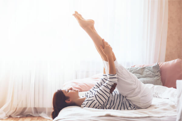 3.就寝前にできる足のむくみ解消ストレッチ
