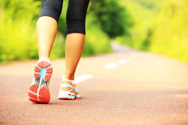 ジョギング道路ふくらはぎ/脚痩せ