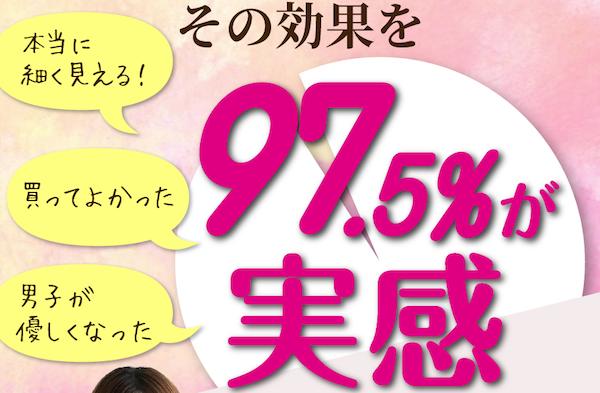 97.5%が実感