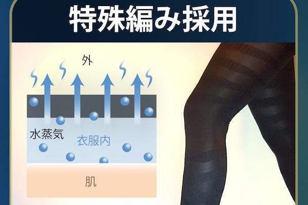 ビューティーレックチェンジ特殊編み採用